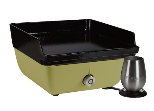 Ferleon Patio Cooker – Olivgrün mit Planchaplatte