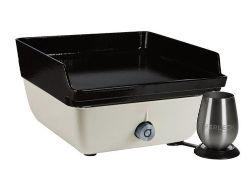 Ferleon Patio Cooker – Perlweiß mit Planchaplatte