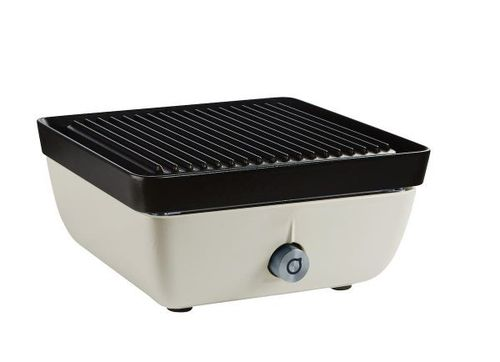 Ferleon Patio Cooker – Perlweiß mit Grillplatte