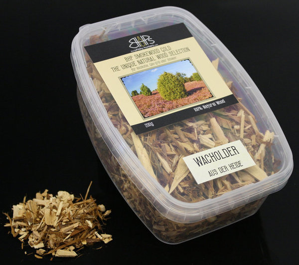 BHP Smokewood Gold Chunks - Wacholder aus der Heide, Natural Wood Chips 200 g